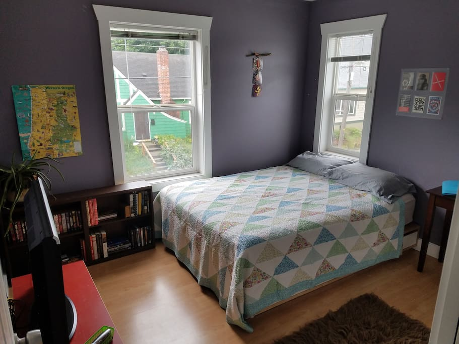 Your bedroom. Tons of natural light!