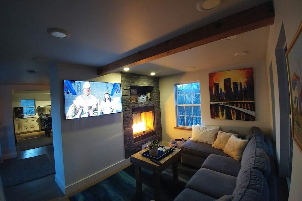 Winter in the horizon, cozy up with the fireplace