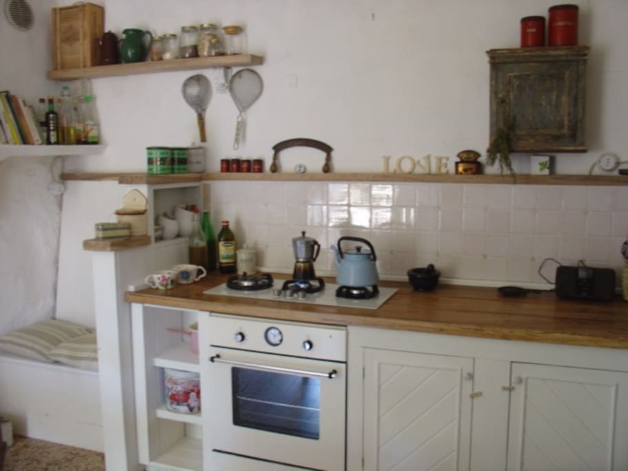Hand built wooden kitchen