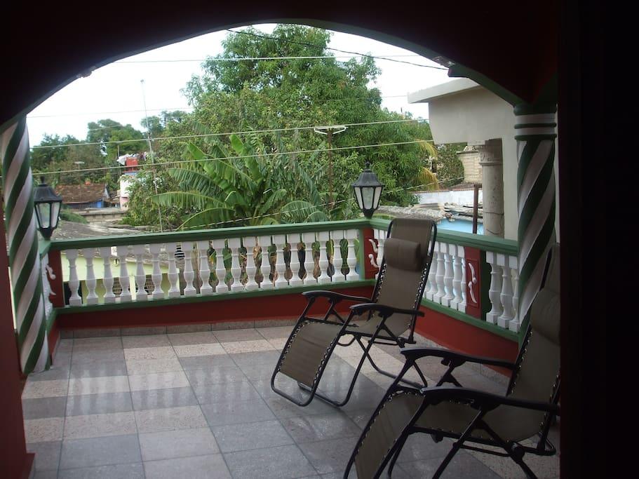 Amplia terraza