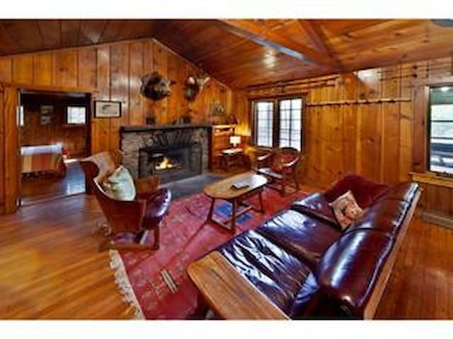 Creekside Knotty Pine 1930s Lodge o - Milford - Cabaña