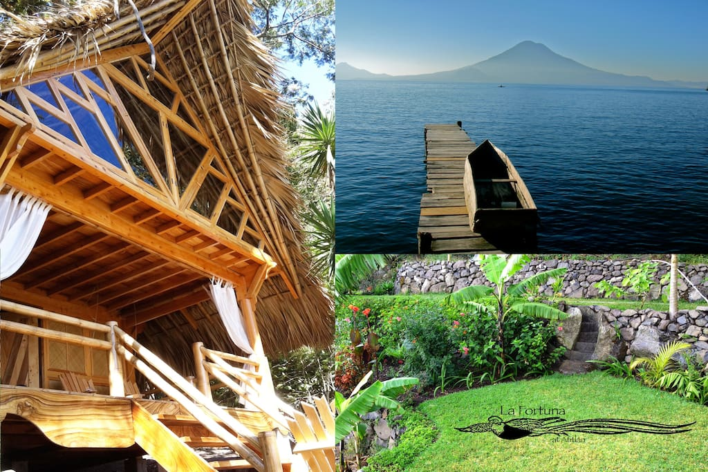 Beautiful volcano lake views, lush tropical gardens and stunning balinese style bungalow suites.