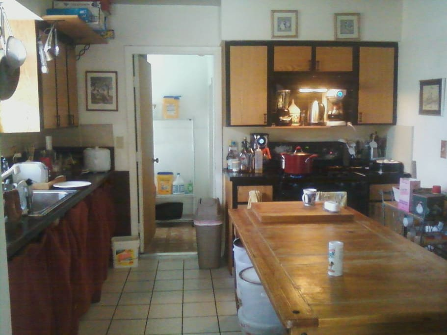 Our Ever-Available Cheery Kitchen, Anytime Breakfast, Free Rice&Beans - or Cook Your Own