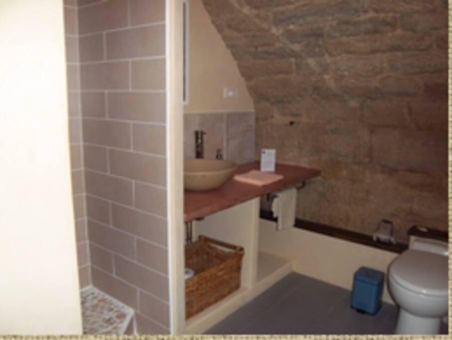La salle de bain de la chambre Campo