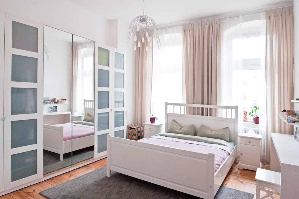 Master bedroom - King size bed, great pillows, orthopedic mattress