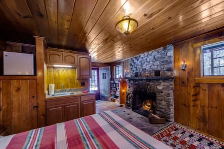 Knotty Pine Charming Cabin w/Stone  - Milford