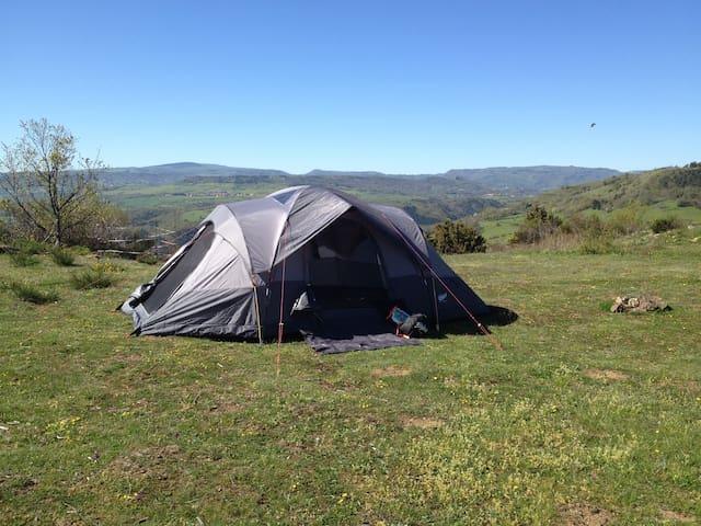 Bivouac pleine nature tout compris tente+ 3repas ! - Montaigut-le-Blanc - Tenda