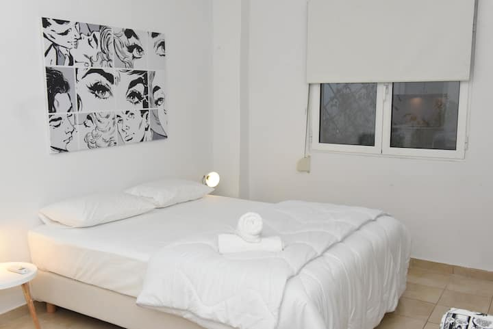 white studio in the heart of Athens