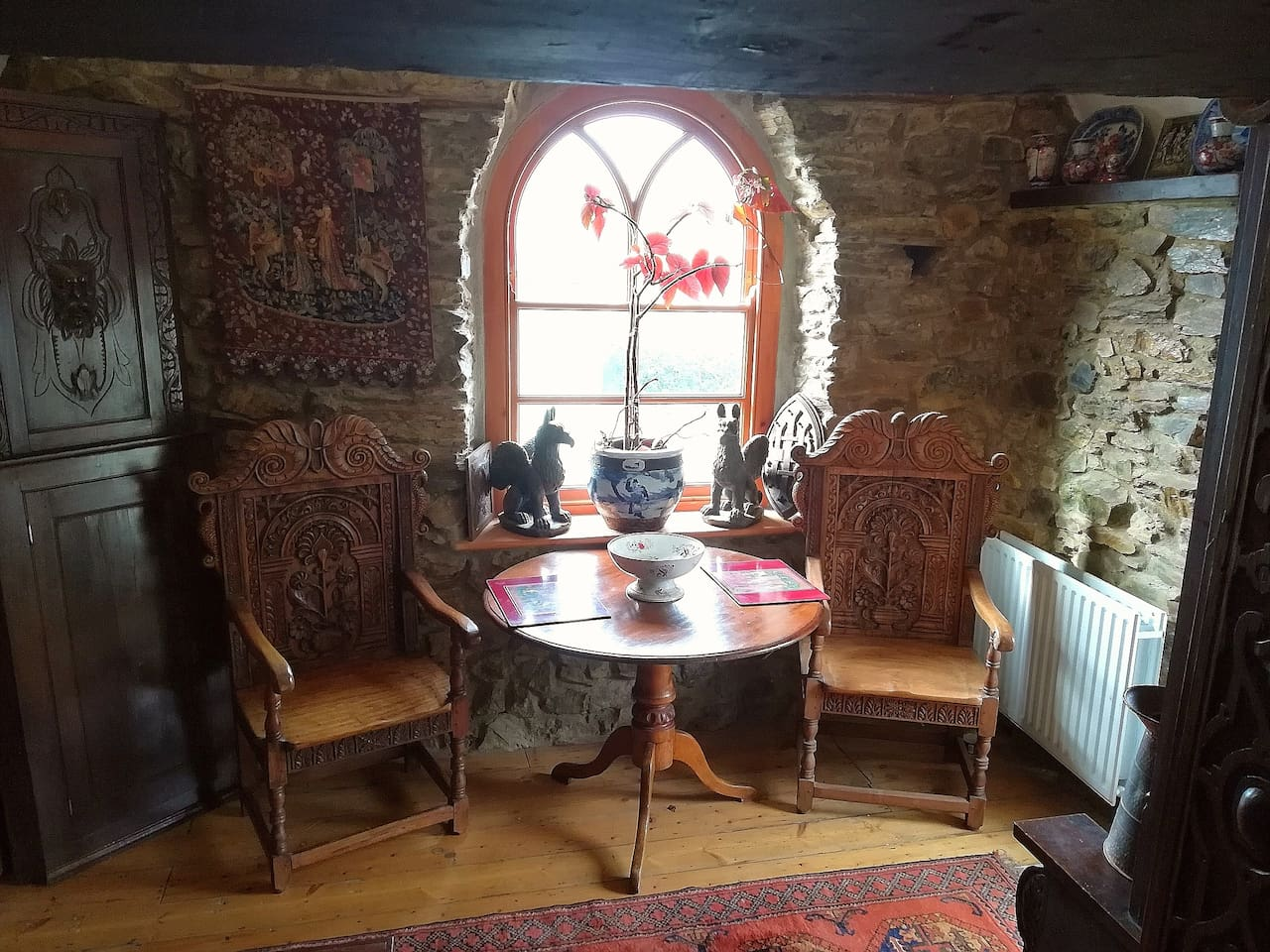 Guest's own medieval style dining area