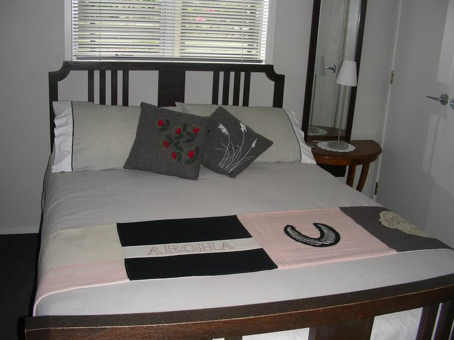 Your bedroom has a double bed, wardrobe, chest of draws,side tables & lamps. With electric blanket for cold nights