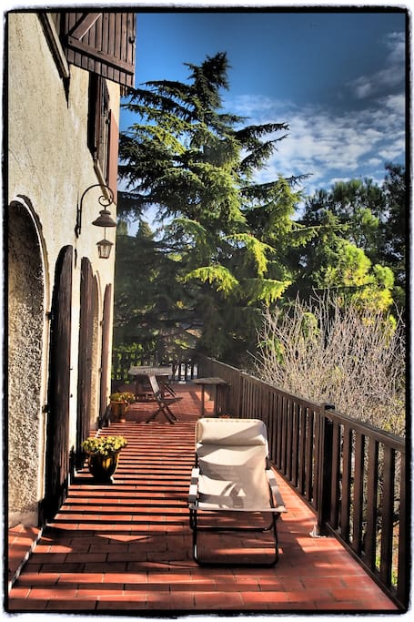 The terrace is our main room in summer...
