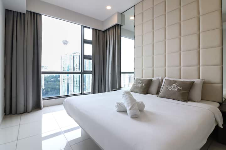 1BR w/ KL Tower View 9min to Chinatown&Changkat