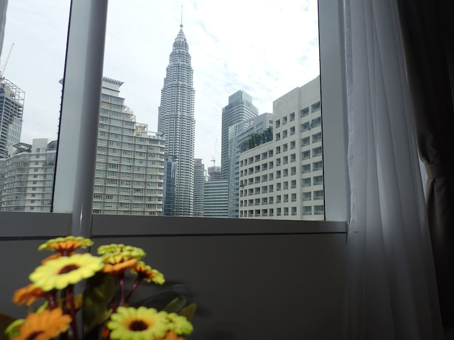 KLCC view from Living room