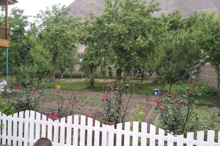 Khorog inn with big garden