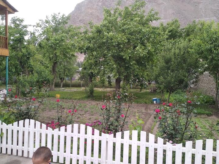 Khorog inn with big garden