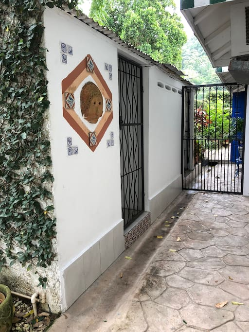 Gated private entrance