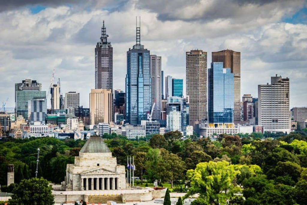 Million dollar views of Melbourne city! Yes, this is the actual view you will have
