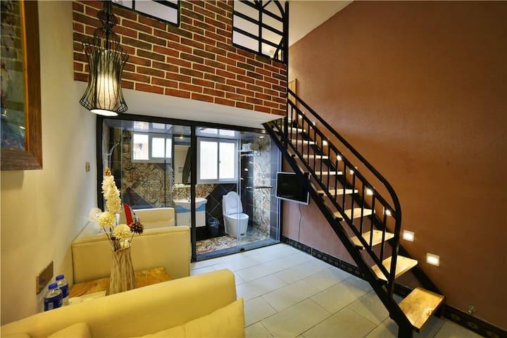 厦门曾厝垵,悦蓝湾庭岚坊,舒适复式大床房 - Xiamen - Appartement