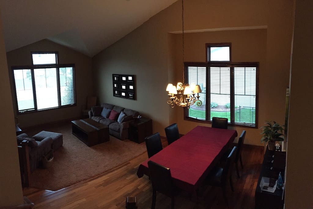 Formal Living Room Large windows bring in lots of natural sunlight