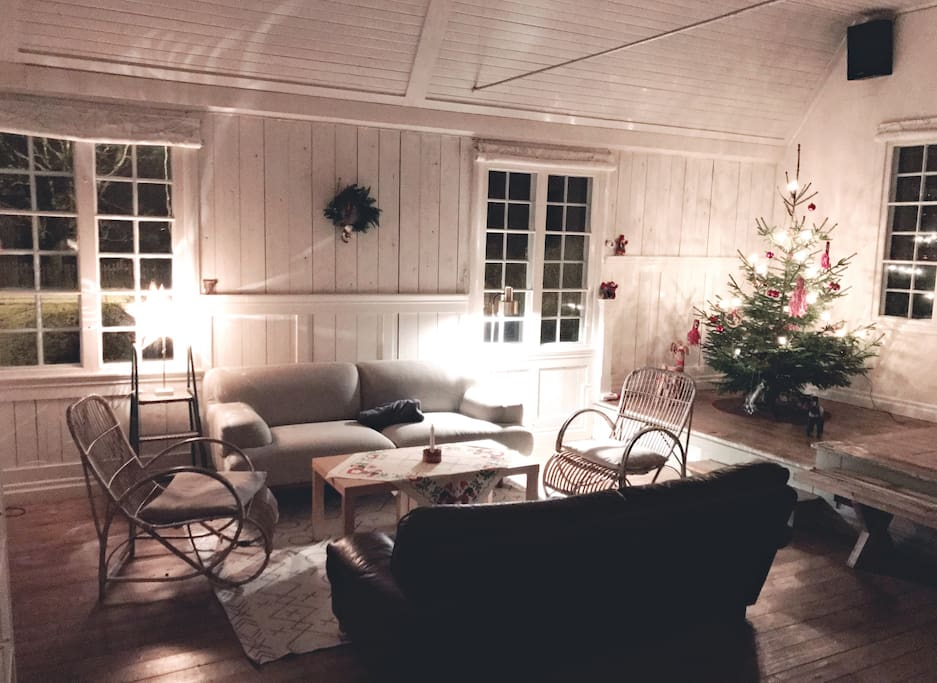 Christmas ambience in the living room