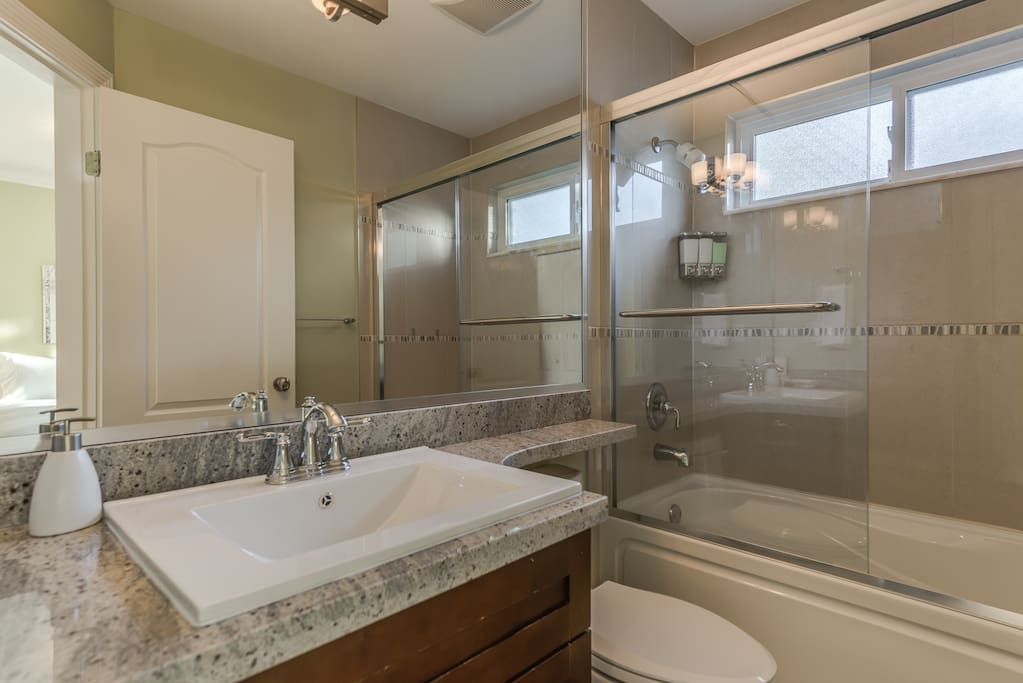 This is your private bathroom. Yes, yours. No, you don't have to share. Unless you brought the other person with you, that is.