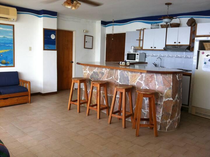 apartamento al borde mar caribe