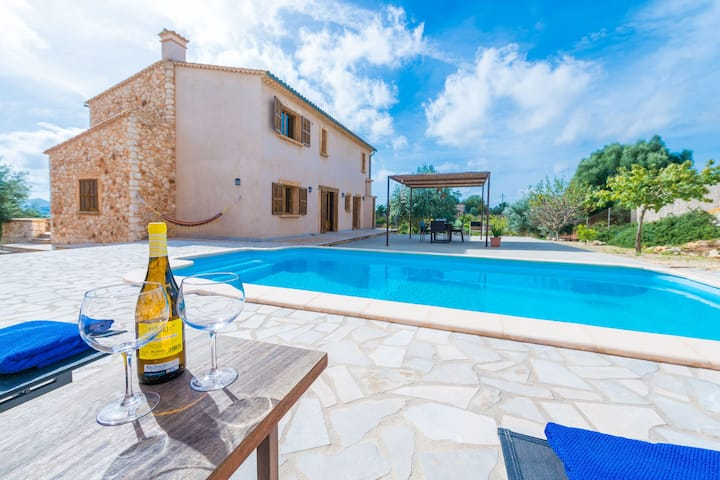 CASA PUIG DE NA FRANQUESA - Villa with private pool in Manacor. Free WiFi
