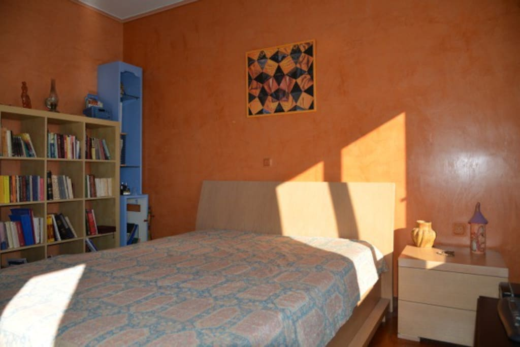 The main Bedroom with double bed, on the first level of the apartment.