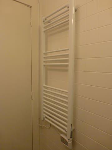 Towel heating in the bathroom