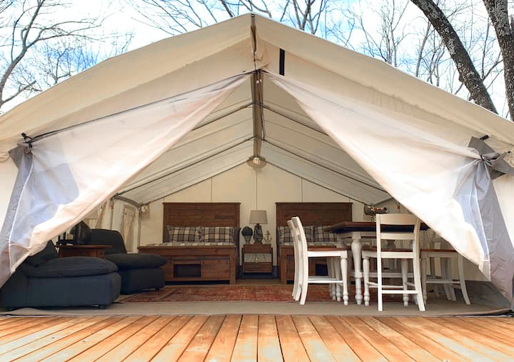 Lake Texoma Resort Glamping Tent #5 - Sleeps 6