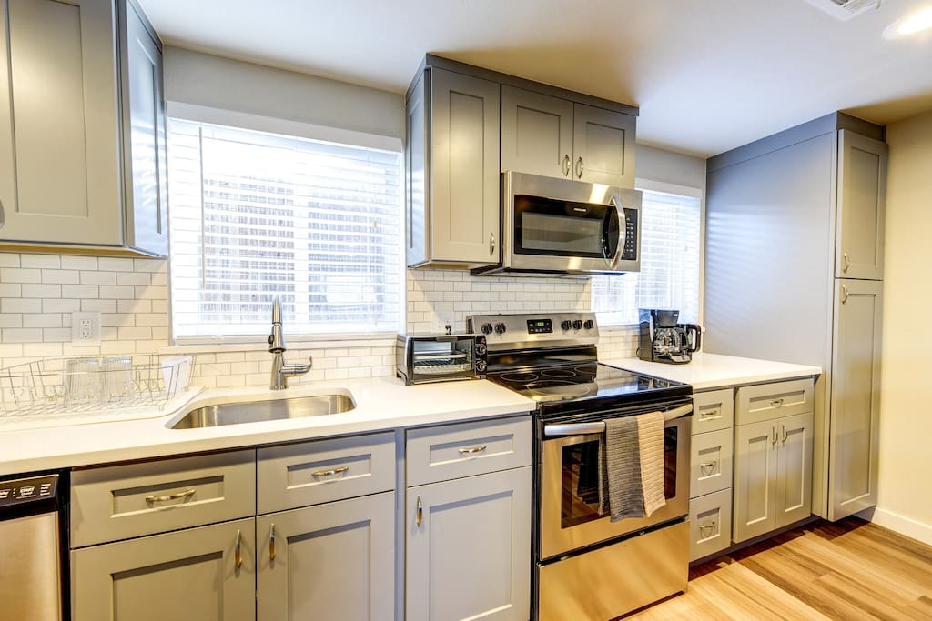 Fully stocked kitchen - stainless steel appliances