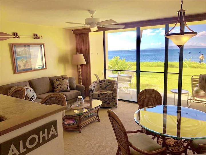 Sugar Beach Resort #120: Just mere steps to the ocean from this ground floor condo in North Kihei