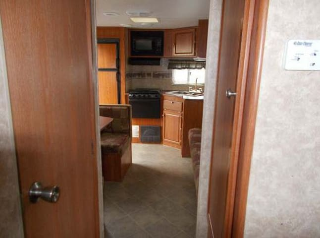 """Inside the unit, a lovely """"home away from home."""""""