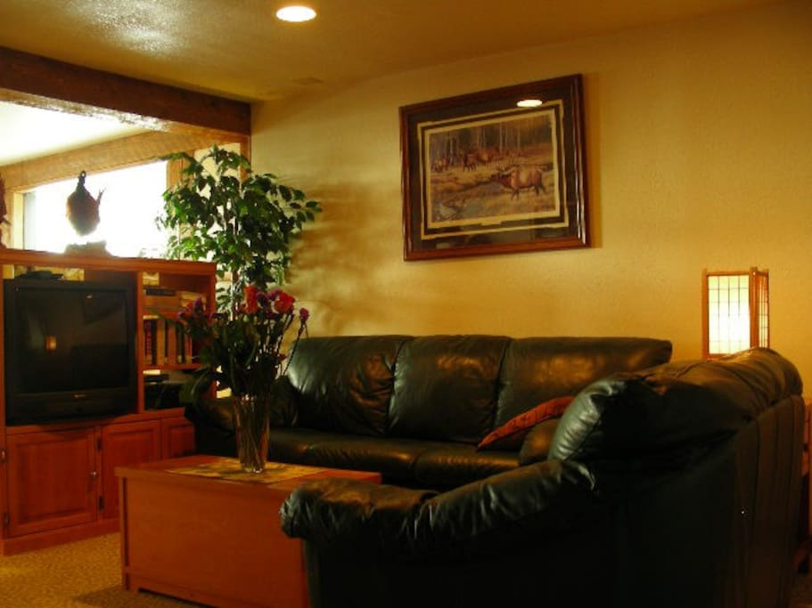 Living room in the 900 s.f. suite