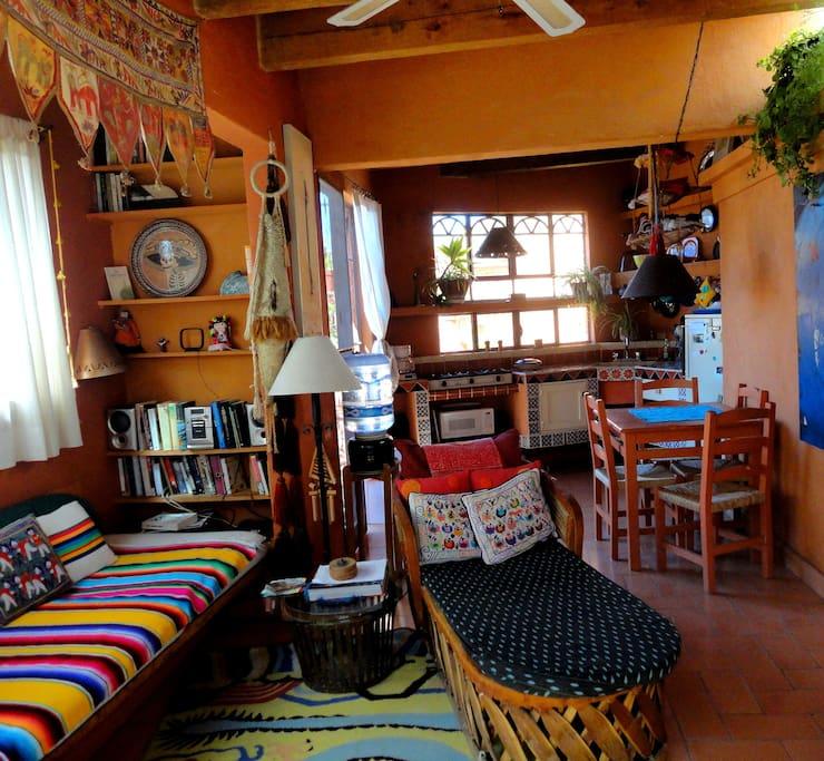 Living/kitchen, Tres Casitas rentals San Miguel