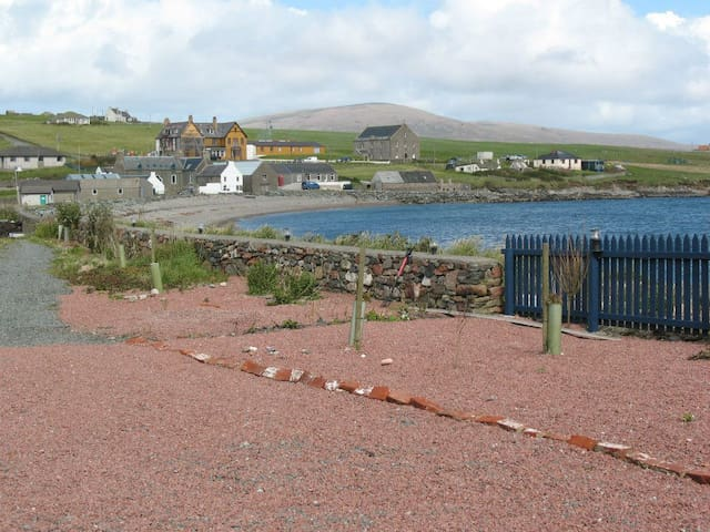 View of Hillswick from the front of the seabarn