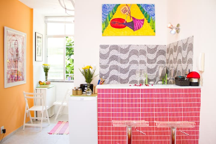 An arty and cosy in Lapa + bikes - Rio de Janeiro - Appartement