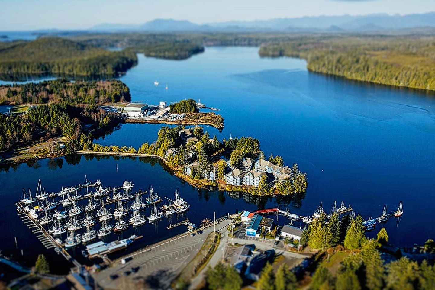 Come escape to the only property with access to both the serene Ucluelet Inlet & bordering Marina from your suite!