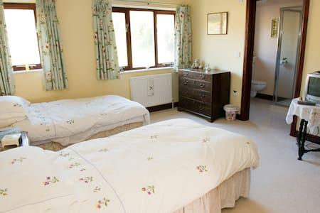 Twin en-suite in country house. - Devon