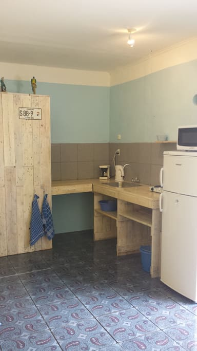 Our home made pallet wood kitchen