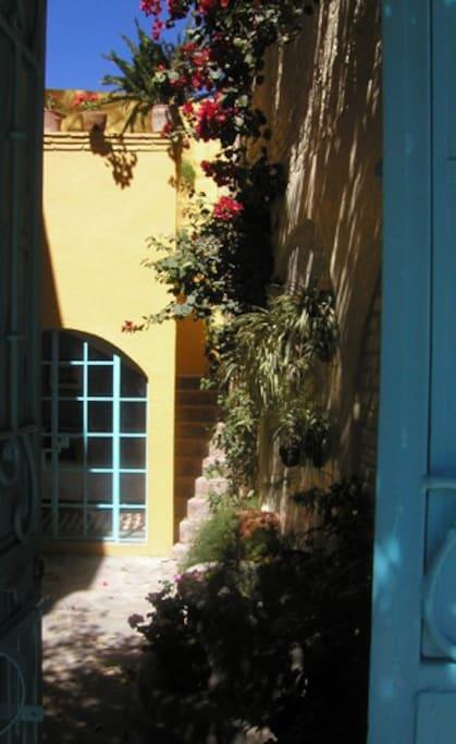 Entrance into courtyard