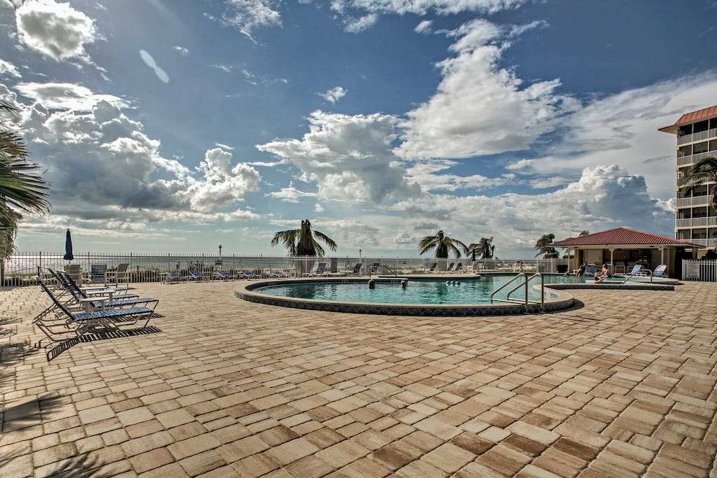 Located in the Bonita Beach Club Condominiums, this condo offers access to a community swimming pool, tennis courts, fitness center, and much more.