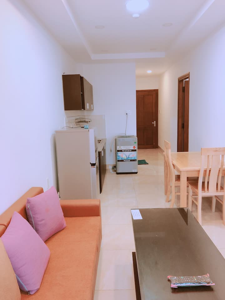 Bao Binh Apartment_Double bed room with balcony