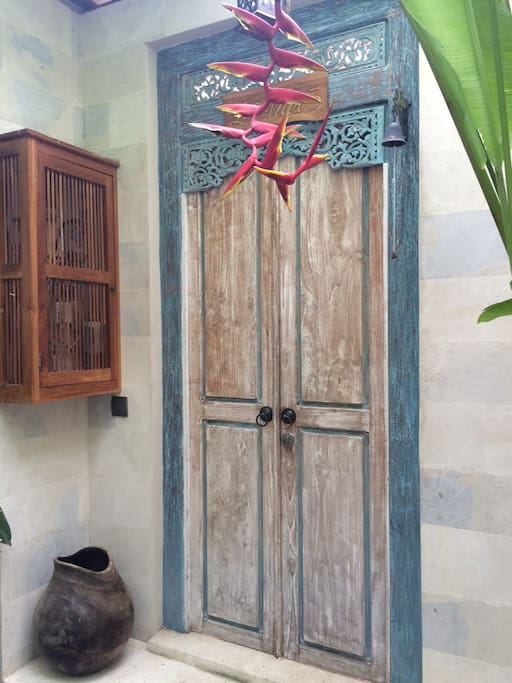 Entrance to private villas with private pool.