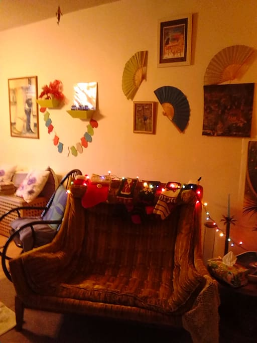living room off of kitchen dining(Christmas)