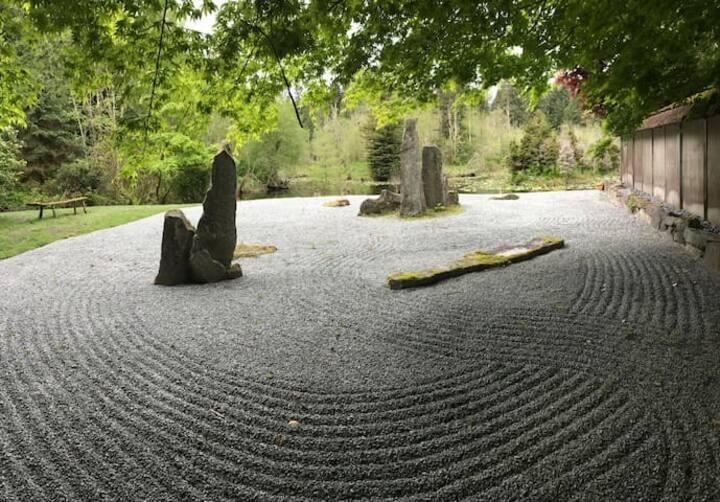 Escape the city to your own zen garden sanctuary 🧘♀️