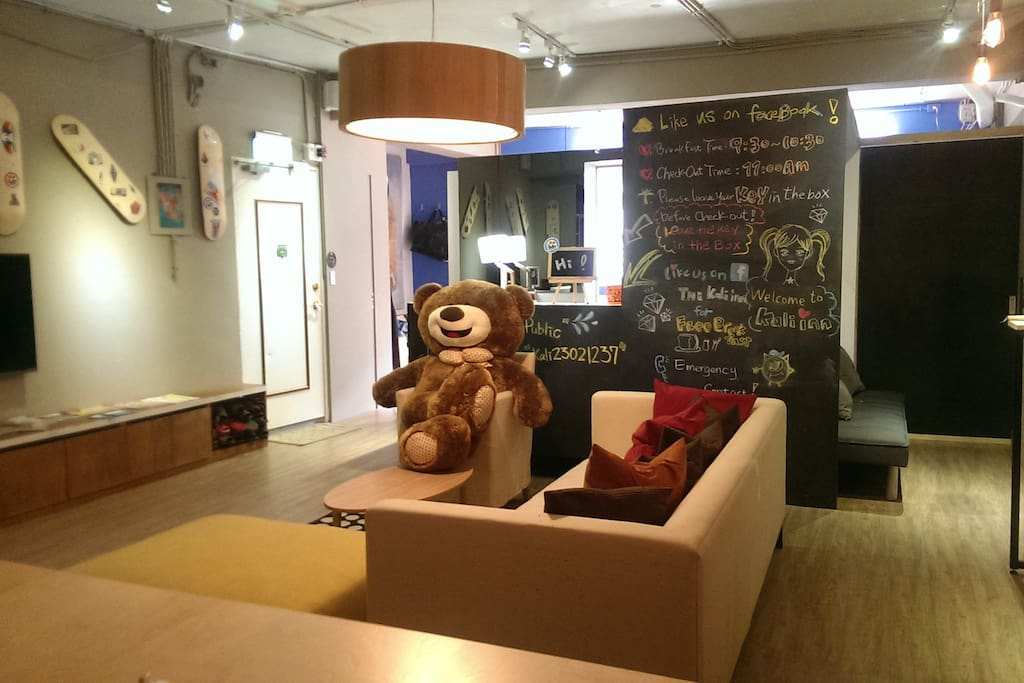 Have you met our kali Inn mascot ? kali bear is here !