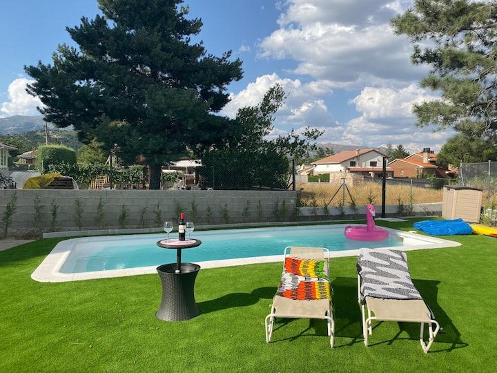 Sierra de Madrid, piscina privada de agua salada