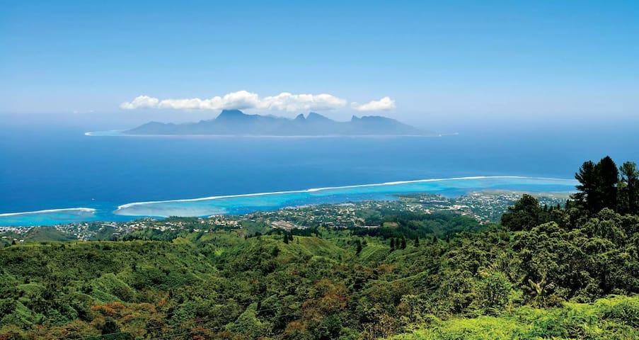 Tahiti Open View to  Moorea island