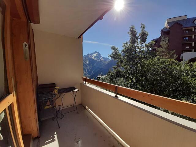 Appartement lumineux 19m2, Deux alpes 4pers